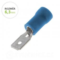 Konektor Faston kolík modrý 6,3mm 5ks