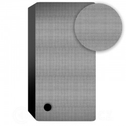 Mecatron průzvučná tkanina stříbrná